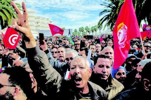 Tunus'ta ekonomik kesinti planlarına karşı eylemler – Gazete Nisan